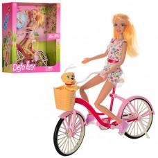 Игровой набор Кукла DEFA (Велосипед, собачка)
