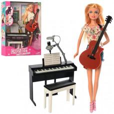 Игровой набор Кукла DEFA (Пианино, гитара)