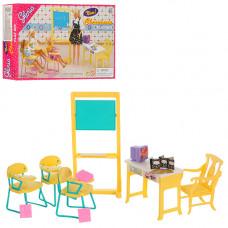 """Набор кукольной мебели Gloria 9916 """"Школа"""", парты, стол учителя, доска"""