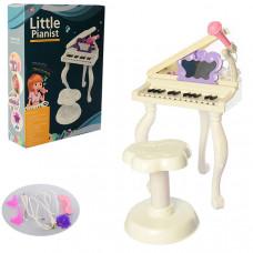 Детский синтезатор-пианино - со стульчиком (Белый)