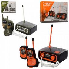 Ігровий набір рація ZR302A-B 2шт, станція, звук, світло, на батарейці, в коробці