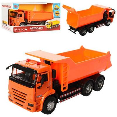"""Самосвал """"Play Smart"""", световые и звуковые эффекты, на батарейке, в коробке: желтый и оранжевый (9621 А /В)"""