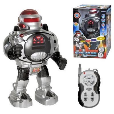 """Робот на радиоуправлении """"Воин Галактики-Космический Воин"""" ходит, говорит, стреляет дисками (M 0465 U/R)"""