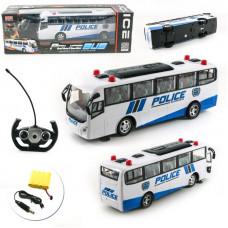 Автобус на радиоуправлении 666-690A, аккум, полиция, 30 см, свет
