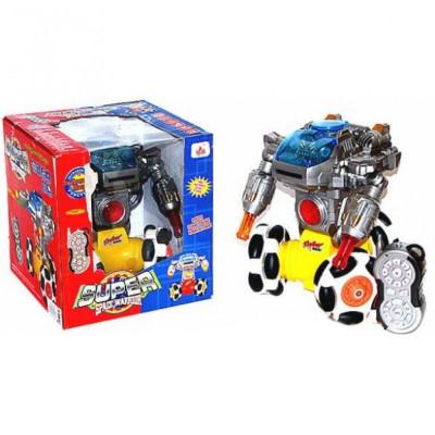 Игрушка робот на радиоуправлении, стреляет дисками, звук, свет (28123)