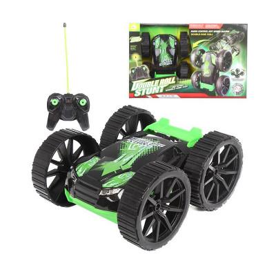 Трюковая машинка перевертыш на радиоуправлении зеленая (5588-603)
