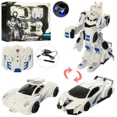 Набор игровой на радиоуправлении (машинка + робот-трансформер) со звуком и светом Le Neng Toys Royaltoys (к 13)
