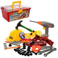 Детский набор инструментов 2056 в чемоданчике, 48 инструментов
