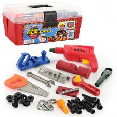 Детский набор инструментов 2059 в чемоданчике, 33 инструмента