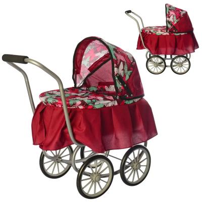 Коляска для куклы, классика, железные колеса (диам. 19см) (9678)