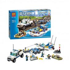 "Конструктор Urban ""Поліцейський патруль"", 409 деталей, в коробці"