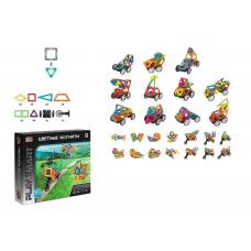"""Конструктор магнітний Play Smart """"Машинки, тварини, мотоцикли"""", 25 деталей, 33 моделі, в коробці"""