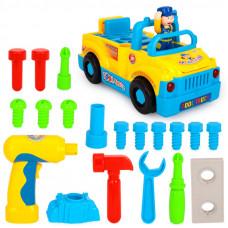 Детская музыкальная Машинка-Конструктор 789 с инструментами