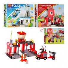 Конструктор JIXIN 8188-9188 A (Полиция, Пожарная)