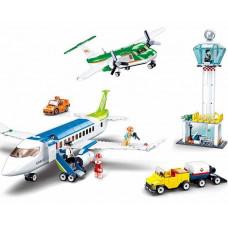 "Конструктор ""Аэропорт"", самолет, транспорт, фигурки, 731 деталь SLUBAN M38-B0930"
