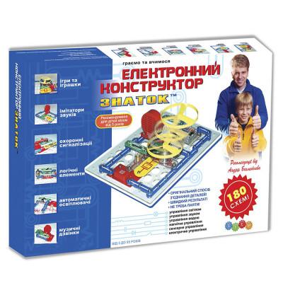Детский электронный конструктор Знаток 180 схем (REW-K003)