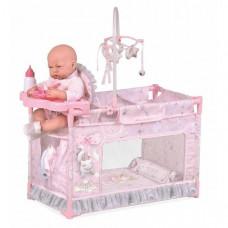 Манеж-кроватка для кукол DeCuevas с мобилем (53134)