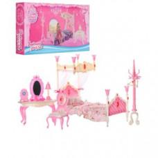 Меблі 689-3 (30 шт) спальня, ліжко, 33х32х17 см, трельяж, стілець, в коробці, 31х18,5х6 см