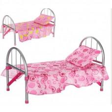 Іграшкове ліжечко Melobo для ляльки 45х32х25 см, подушка, мікс видів, в кульку