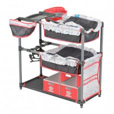 Кроватка-манеж для кукол (пеленальный столик) Hauck D-91805, кораллово-серый
