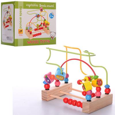 Деревянная игрушка лабиринт на проволоке (MD 1048)