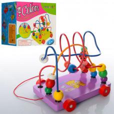 Деревянная игрушка Лабиринт-каталка на проволоке 12546Е