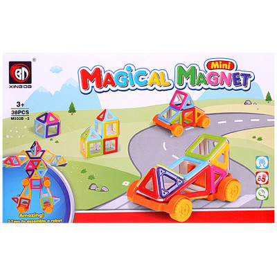 Конструктор магнитный Magical Magnet 38 деталей аналог Magformers (M032B-2)