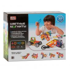 """Конструктор магнітний """"Тварини і машинки"""", 32 деталі, 10 моделей, Play Smart"""