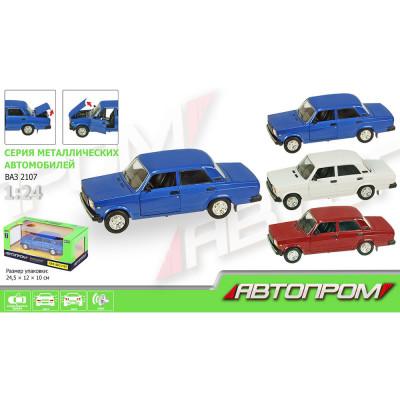 Машинка металлическая Автопром ВАЗ-2107 масштаб 1:24 (2107)