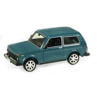 Коллекционная металлическая машинка ВАЗ 21214 Нива от Автопром, масштаб 1:22 (21214)