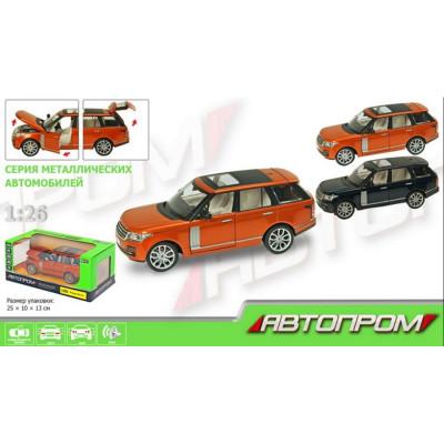 """Коллекционная машинка металлическая Range Rover Vogue """"АВТОПРОМ"""" масштаб 1:26 (68263A)"""