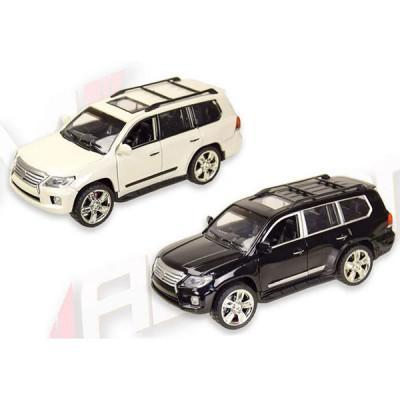 Машинка металлическая Автопром Lexus (Черный, белый)