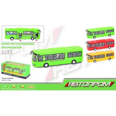 Металлическая машинка Автобус, масштаб: 1:32 (7780)
