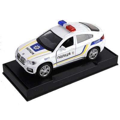 Машинка металлическая Автопром Полиция BMW X6
