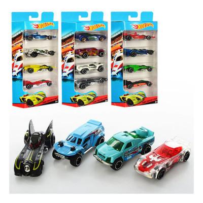 Набор машины металлические Hot Wheels, 4 штуки, в коробке Hot Speed (LR02)