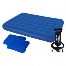 Комплект двухспальный матрас Bestway 67374, насос + 2 подушки 152x203x22 см