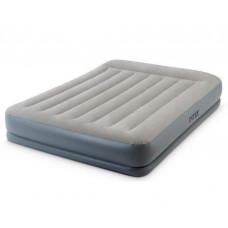 Надувная кровать Intex 64118, 152 х 203 х 30 см, встроенный электронасос, двухспальная