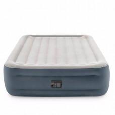 Надувная кровать Intex 64126, 152 х 203 х 46 см, встроенный электрический насос, двухспальная