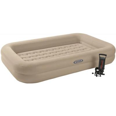 Детская надувная кровать Intex, 107х168х25 см, с ручным насосом, односпальная (66810)