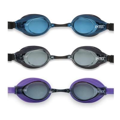 Детские очки для плавания Intex 3 цвета от 8 лет (Intex 55691)
