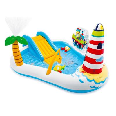 """Детский игровой надувной центр с горкой """"Рыбалка"""" Intex 57162"""