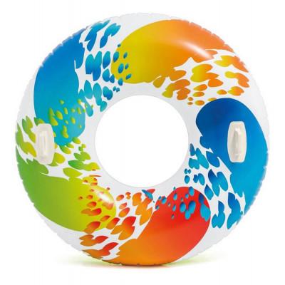 """Надувной круг с ручками """"Вихрь Цвета"""" Intex (58202)"""