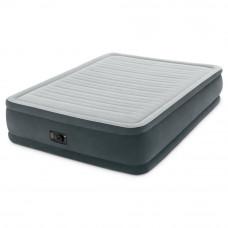 Надувная велюр кровать Intex 64414 203х152х46см