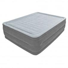 Надувная велюр-кровать Intex 64418 со встроенным электронасосом