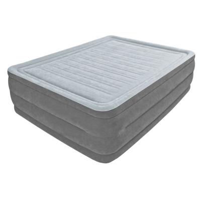 Надувная велюровая кровать Intex Premium Comfort Airbed со встроенным электронасосом (64418)
