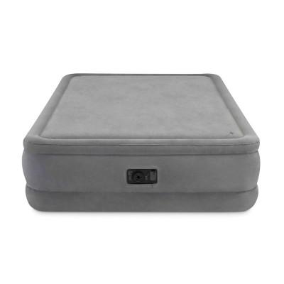 Надувной велюровый матрас-кровать Intex со встроенным насосом 152х203х51 см (Intex 64470)