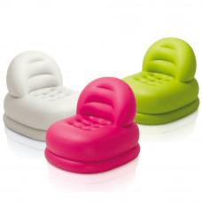 Надувное кресло Intex 68592 NP Мода 3 цвета (84х99х76см)