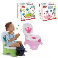 """Детский музыкальный горшок """"Королевский трон"""" Baby Potty (Розовый, Зеленый)"""