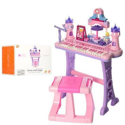 Детский синтезатор конструктор со стульчиком (88037)