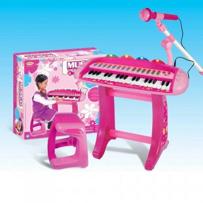 Детский синтезатор пианино с микрофоном (HK-8020C-2)